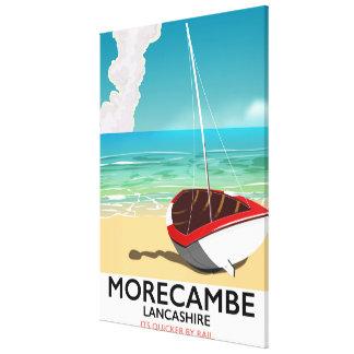 Impressão Em Tela Morecambe, poster de viagens do beira-mar de
