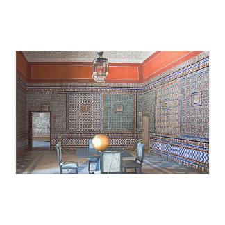 """Impressão Em Tela Mosaico da """"casa de Pilate"""" em Sevilha"""