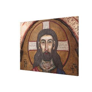 Impressão Em Tela Mosaico de Jesus