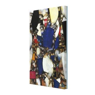 Impressão Em Tela Mulher de Fernand Leger do vintage no azul