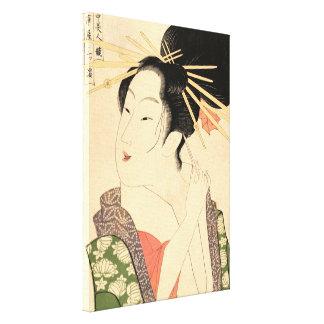 Impressão Em Tela Mulher japonesa tradicional