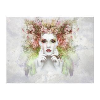 Impressão Em Tela Mulheres bonitas com borboleta