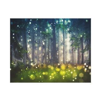 Impressão Em Tela Mystical Forest - Trees, Twilight capa de país