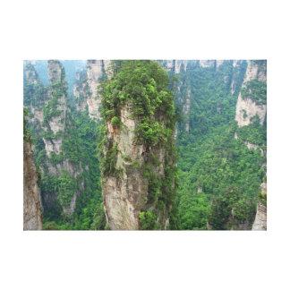 Impressão Em Tela Nacional Forest Park de Zhangjiajie das montanhas