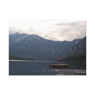 Impressão Em Tela Nadar no lago Bohinj Slovenia