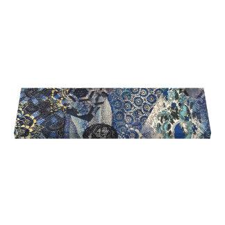 Impressão Em Tela Nami azul imperial