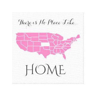 Impressão Em Tela Não há nenhum lugar como o _Home Kansas