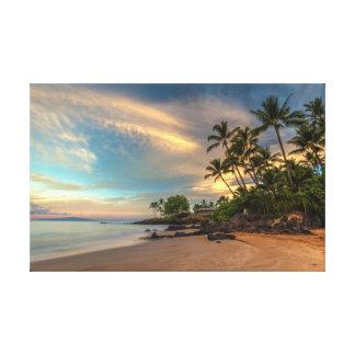 Impressão Em Tela Nascer do sol da praia de Po'olenalena