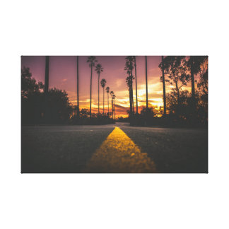 Impressão Em Tela Nascer do sol do por do sol | da estrada |