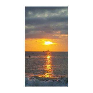 Impressão Em Tela Nascer do sol exterior dos bancos