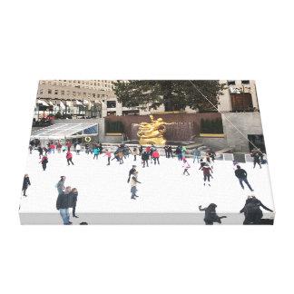Impressão Em Tela Natal Center NYC da pista do patinagem no gelo de
