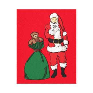 Impressão Em Tela Natal Papai Noel