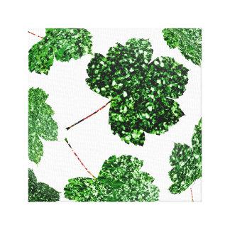 Impressão Em Tela Natureza botânica preta verde tropical da folha de
