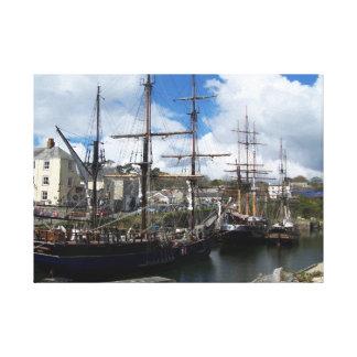 Impressão Em Tela Navios de navigação sul de Charlestown Cornualha