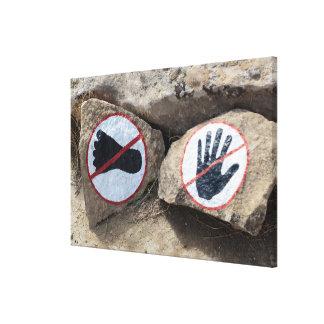 Impressão Em Tela Nenhum sinal de toque ou de passeio