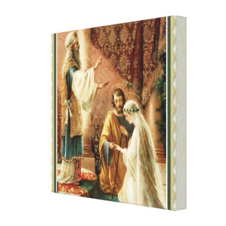 Impressão Em Tela Noivado do casamento do padre da noiva & do noivo