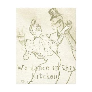 Impressão Em Tela Nós dançamos nesta cozinha | Lautrec, dançando o