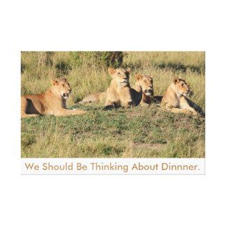 Impressão Em Tela Nós devemos pensar sobre o jantar