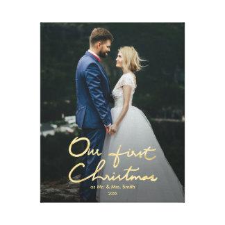 Impressão Em Tela Nosso primeiro Natal como o Sr. & a Sra. foto do