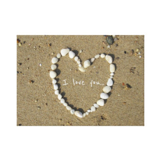 Impressão Em Tela Notas do amor na costa