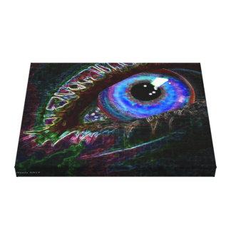 Impressão Em Tela Nunca vendo o olho no preto pelo artista de