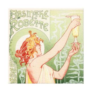 Impressão Em Tela O absinto Robette - poster vintage do álcool
