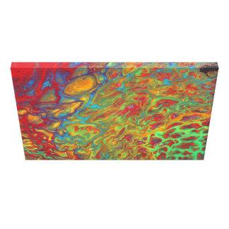 Impressão Em Tela O acrílico abstrato do arco-íris derrama o