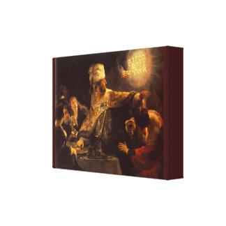 Impressão Em Tela O banquete do Belshazzar do vintage por Rembrandt