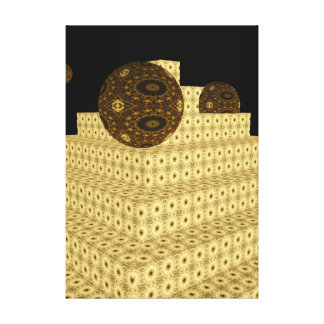 Impressão Em Tela O caleidoscópio 3D pisa e globos, Brown floral