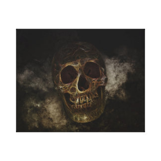 Impressão Em Tela O crânio dourado