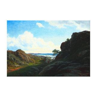Impressão Em Tela O dia de verão de Georg Emil Libert com rochas