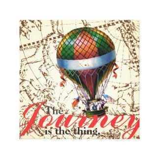 Impressão Em Tela O fundo do zodíaco do balão de ar quente da viagem
