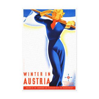 Impressão Em Tela O inverno em Áustria restaurou o poster das