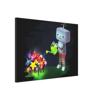 Impressão Em Tela O jardim do robô