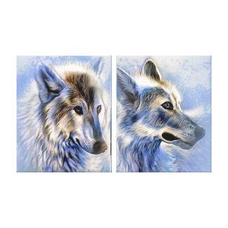 Impressão Em Tela O lobo do gelo