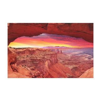 Impressão Em Tela O Mesa arqueia o nascer do sol em Canyonlands,
