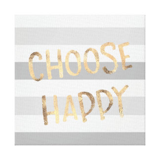 Impressão Em Tela O ouro das listras do cinza escolhe feliz
