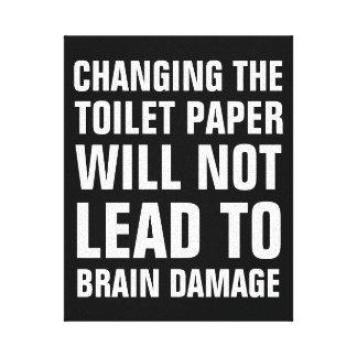 Impressão Em Tela O papel higiénico em mudança não conduzirá aos