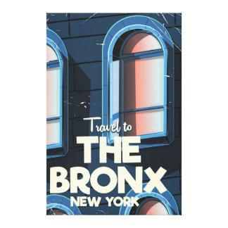 Impressão Em Tela O poster de viagens da Nova Iorque de Bronx
