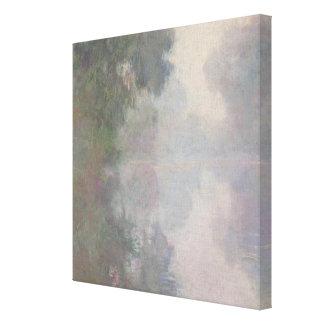Impressão Em Tela O Seine em Giverny, névoas da manhã