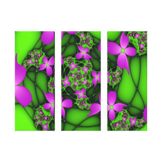 Impressão Em Tela O verde cor-de-rosa de néon abstrato moderno