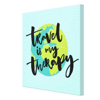 Impressão Em Tela O viagem é minha terapia