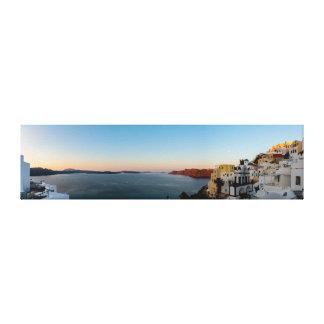 Impressão Em Tela Oia, panorama do nascer do sol de Santorini