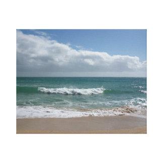 Impressão Em Tela Onda Cornish da praia