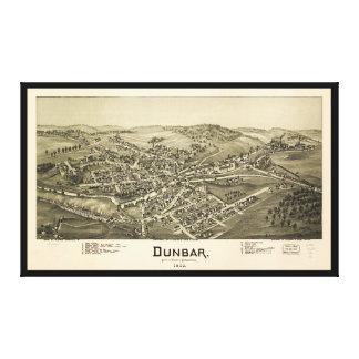 Impressão Em Tela Opinião aérea Dunbar, Pensilvânia (1900)