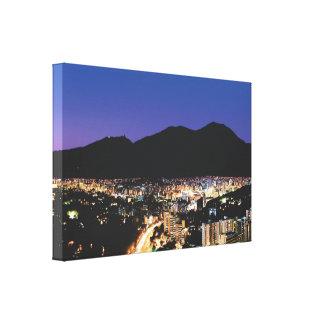 Impressão Em Tela Opinião da noite de Caracas, Vzla