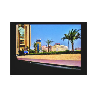 Impressão Em Tela Opinião da rua de Manama