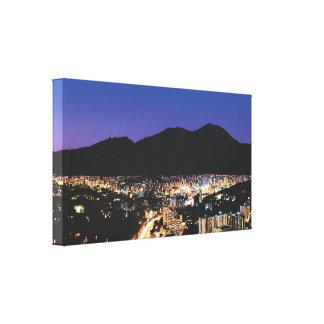 Impressão Em Tela Opinião panorâmico da noite de Caracas, Vzla