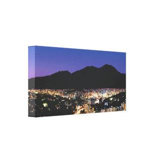 Impressão Em Tela Opinião panorâmico larga da noite de Caracas, Vzla