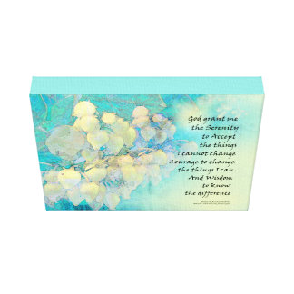 Impressão Em Tela Oração Manzanita da serenidade